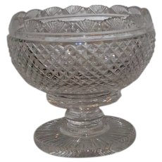 Spectacular Signed Waterford Master Cut Crystal Footed Bowl