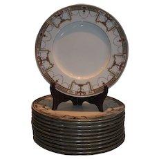 Set of 12 Antique Minton Porcelain Luncheon Plates for Tiffany & Co