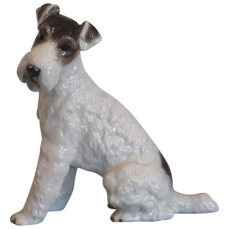 Rare Rosenthal Porcelain Wire Haired Terrier Dog Figurine : Thrive ...