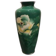 Unusual Antique Japanese Meiji Cloisonné Vase