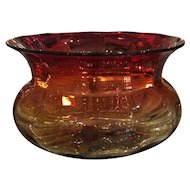 Superb Antique Mt Washington Amberina Glass Bowl