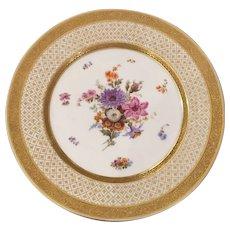 Antique Limoges Avenir Porcelain Cabinet Plate - Floral Center