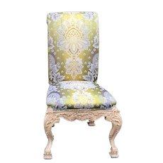 Venetian Style Chair w Green Silk Lampas