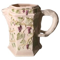 Vintage Belleek Bone China Grape & Vine Wine Jug