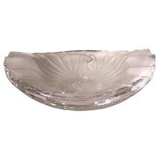"Unusual Signed Lalique French Crystal Sunburst Bowl 8.5"""