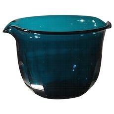 Antique Georgian Blue-green Cut Glass Wine Rinser