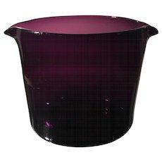Antique Georgian Purple Amethyst Glass Wine Rinser