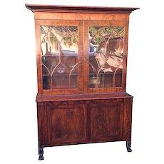 Huge Antique 19th Century English Mahogany Bookcase