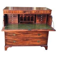 Antique English Georgian Butler's Secretary Desk