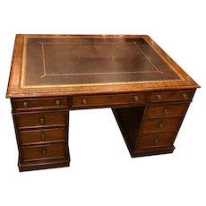 Classic Antique English Partner's Desk