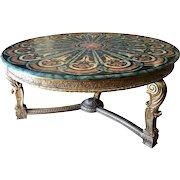 Spectacular Regency Style Tromp L'oril Pietra Dura Center Table