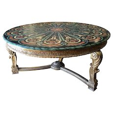 Spectacular Regency Style Tromp L'oril Pietra Dura Center Table