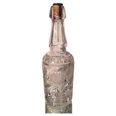 Antique Brilliant Cut Glass Crystal Bottle Decanter