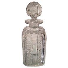 Antique Brilliant Cut Glass Crystal Decanter
