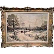 Original Winter Landscape Oil Painting by LoPresti