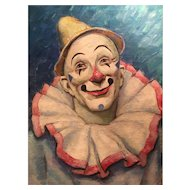 Original Oil Painting of a Clown by Glen Tracy