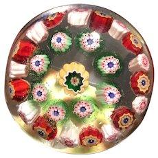 Antique Millefiori Art Glass Paperweight Joe Hutt says RCS