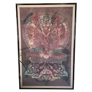 Huge Original Painting of Buddhist God
