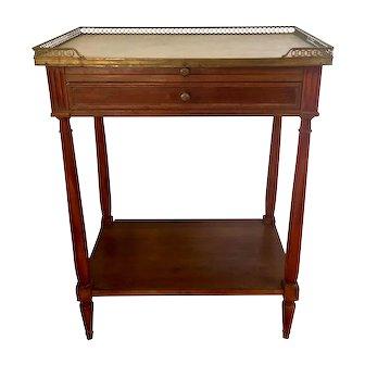 Antique 19C Louis XVI Style Side Table