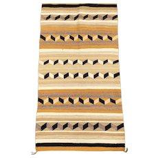 Vintage Geometric Navajo Blanket Rug