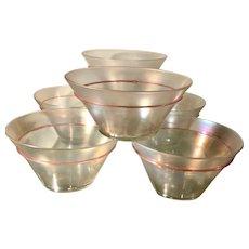 Antique Venetian Glass Bowls w Pink Trim - Renee Taylor Estate 6 of 20