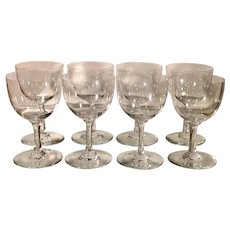 Set of 8 Baccarat French Crystal Wine Stems - Comtesse De Paris