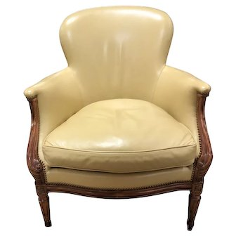 Dennis & Leen Louis XVI Leather Library Chair