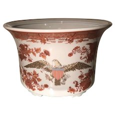 Antique 18th C Style American Eagle Cache Pot Jardenier by Mottahedeh