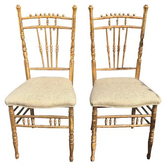 Pair of Antique Regency Style Ballroom Chairs