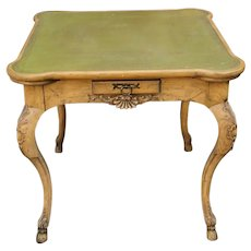George III Style Baker Furniture Co. Leather Top Game Table