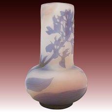 Art Nouveau Gallé 4 Color Cameo Iris Vase