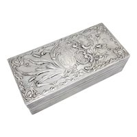 Art Nouveau 800 Silver Jewelry Box