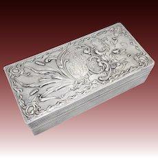 Art Nouveau 800 Silver Jewelry Box