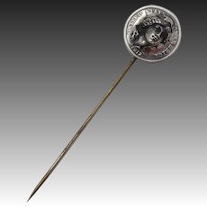 1912 Silver Barber Coin Lady Liberty Stick Pin