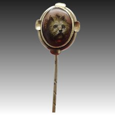 Brass Dog Portrait Stick Pin