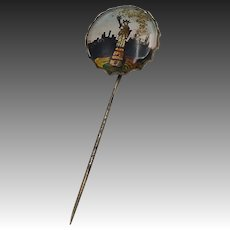 Vintage Stick Pin-New York Skyline with Statue of Liberty