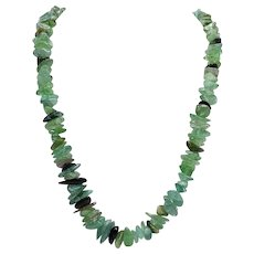Green Quartz Vintage Necklace