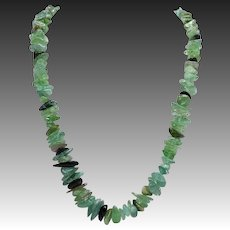 Green Quartz Vintage Necklace