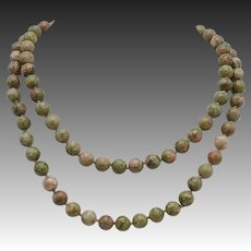 Jasper Bead Vintage Necklace