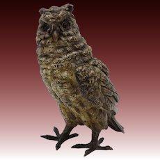 Cold Painted Bergman Owl Bronze