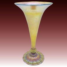 Tiffany Art Nouveau Trumpet Favrile Glass Vase