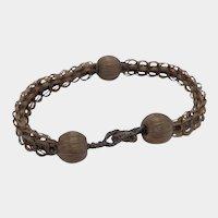 Antique Victorian Hair Mourning Bracelet