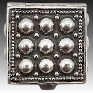 Mid Century Modern Sterling Silver Portuguese Pill Box