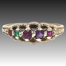 Victorian 15kt Gold Regard Ring