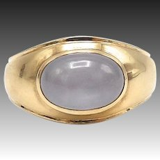 Vintage 14kt Gold and Star Sapphire Unisex Ring
