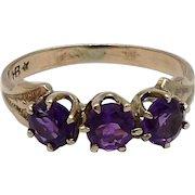 Victorian Amethyst 12KT Gold Ring