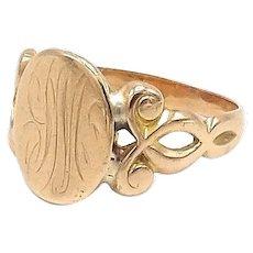 14kt Rose Gold Signet Ring
