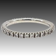 14kt White Gold and Diamond Eternity Band