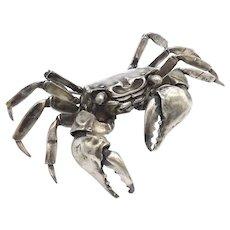 Sterling Silver Articulated Crab Sculpture by Oleg Konstantinov