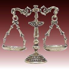 Vintage Italian 800 Silver Miniature Figural Scale